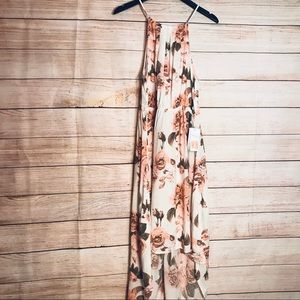 J for Justify floral high low maxi dress Sz Xl